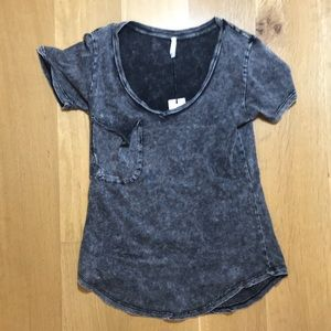 NWT- Z Supply black marbled acid wash t-shirt